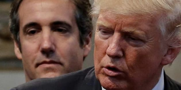 Imagen de archivo de Cohen (izq) y Trump (der).