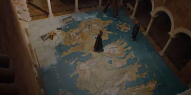 """""""Game of Thrones"""": Cersei et Jaime Lannister ne sont pas placés par hasard sur cette carte"""