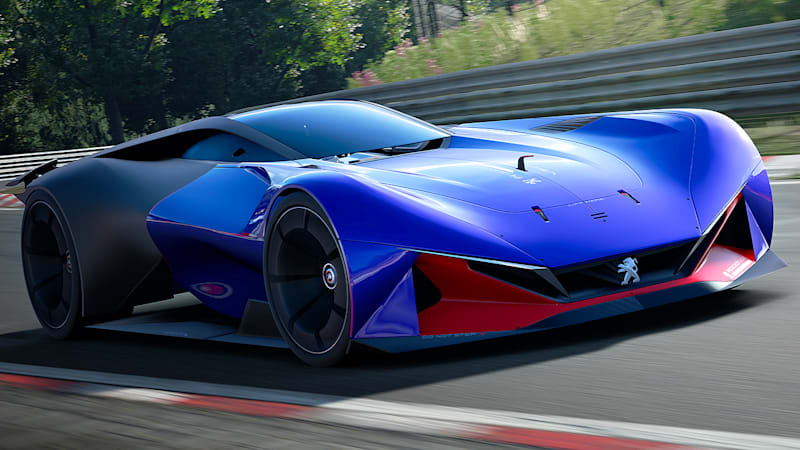 Peugeot designs rear-engine hybrid for Gran Turismo Sport