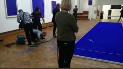 Une oeuvre d'Yves Klein piétinée une nouvelle fois à