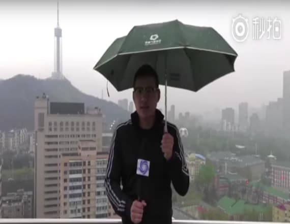 Horrifying video shows reporter struck by lightning