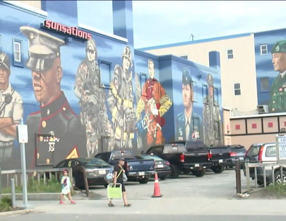Military mural finished in time for Memorial Day