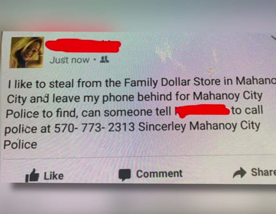 Officers use suspect's phone to post on Facebook