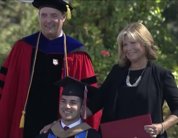 Mom earns MBA attending class with quadriplegic son