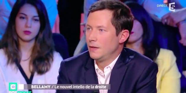 François Xavier Bellamy sur le plateau de C Politique sur France 5 en janvier 2018.