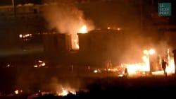 Les images impressionnantes de l'incendie du camp de