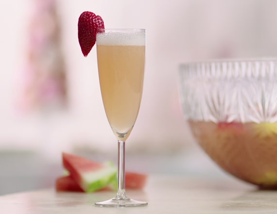 Coconut water champagne fruit punch
