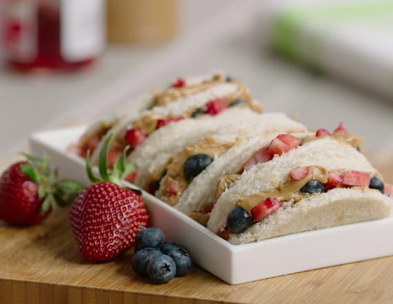 Back to school peanut butter and jelly tacos