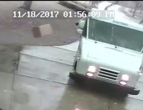 Camera catches postal worker throwing packages