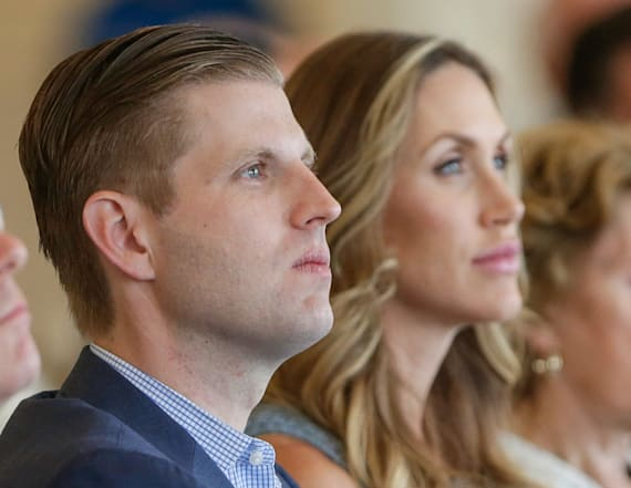 Eric Trump loses it over photo of his dad