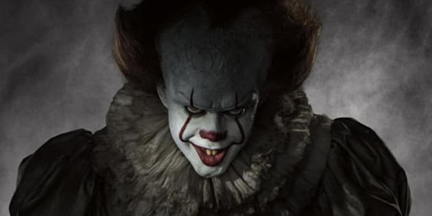 Look who's laughing now: Bill Skarsgard stars as Pennywise the clown in the latest adaptation of Stephen King's 'It'.