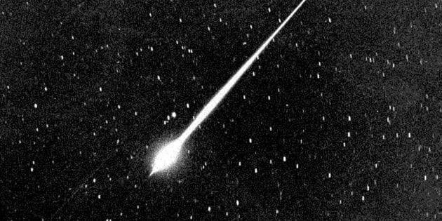 La lluvia de estrellas de las Leónidas en California, en 1966.