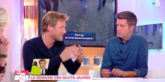 """Laurent Delahousse sur le plateau de """"C à vous"""" vendredi 30 novembre"""
