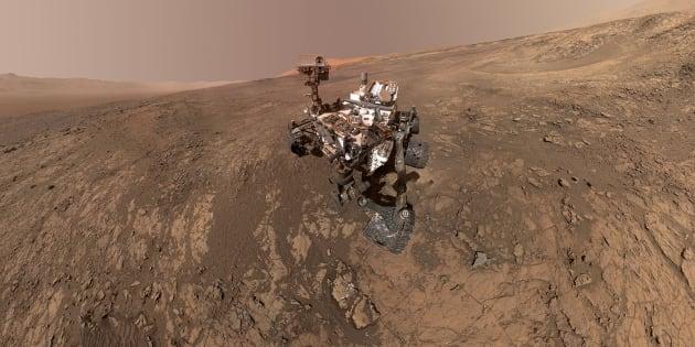 Curiosity Mars Rover de la NASA toma un autorretrato en un sitio llamado Vera Rubin Ridge en la superficie marciana.