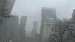 Les images impressionnantes de l'orage de neige qui a frappé le nord-est des
