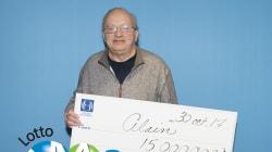Un Montréalais met la main sur 15 M$ au Lotto