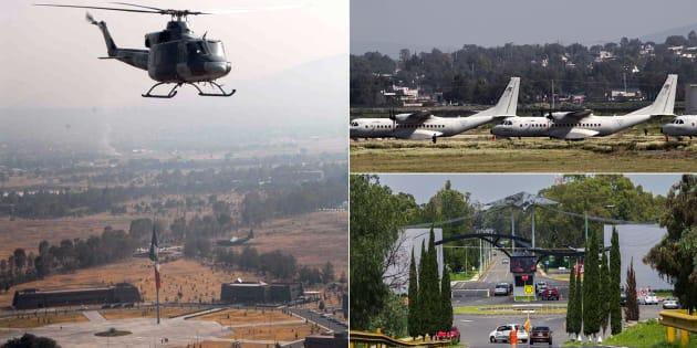 Así luce la base aérea de Santa Lucía.
