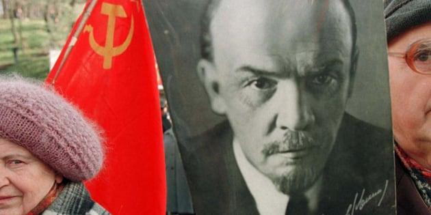 ソ連建国の父レーニンの写真