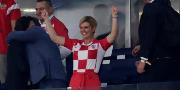 La présidente croate Kolinda Grabar-Kitarovic donne rendez-vous à Macron dimanche à Moscou et c'est un bon présage.