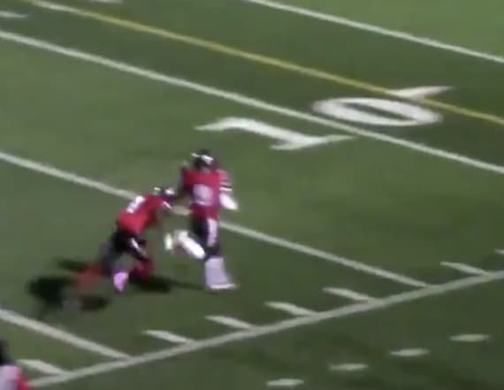 HS player runs to wrong endzone after interception