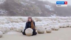 D'où viennent ces boules de neige de la taille d'un ballon de