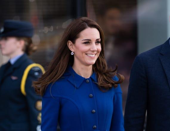 Kate recycles royal blue Eponine London dress