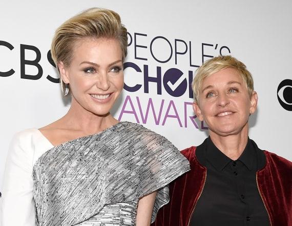 Ellen DeGeneres and Portia de Rossi evacuate home