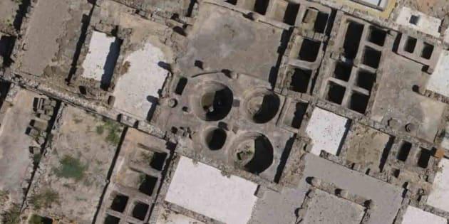 Algunos de los tanques de salazón de la antigua ciudad romana de Baelo Claudia, cerca de la actual Tarifa, uno de los yacimientos arqueológicos de ciudades romanas.