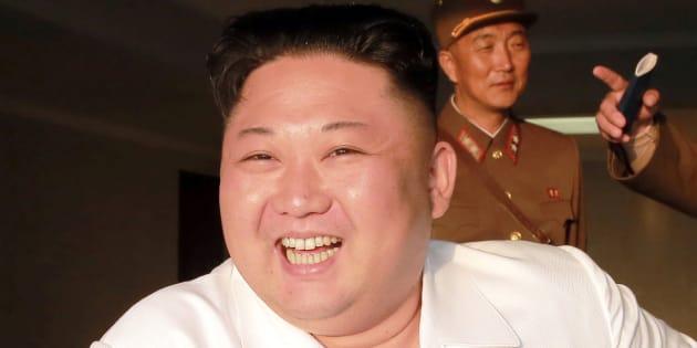 北朝鮮の最高指導者、金正恩・朝鮮労働党委員長。May 30, 2017. KCNA/via REUTERS ATTENTION EDITORS