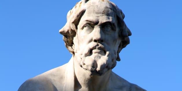 Estatua del historiador griego Tucídices.