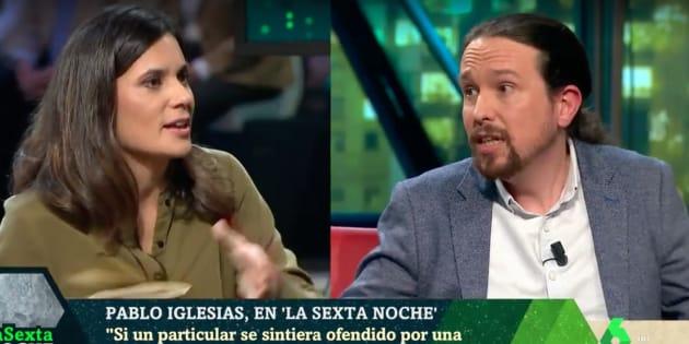 Claro Senora Llapart Tension Entre Pablo Iglesias Y Esta