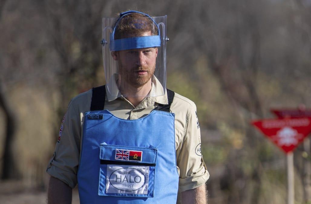 Prince Harry walks through Angola mine field, in echo of Diana visit - AOL