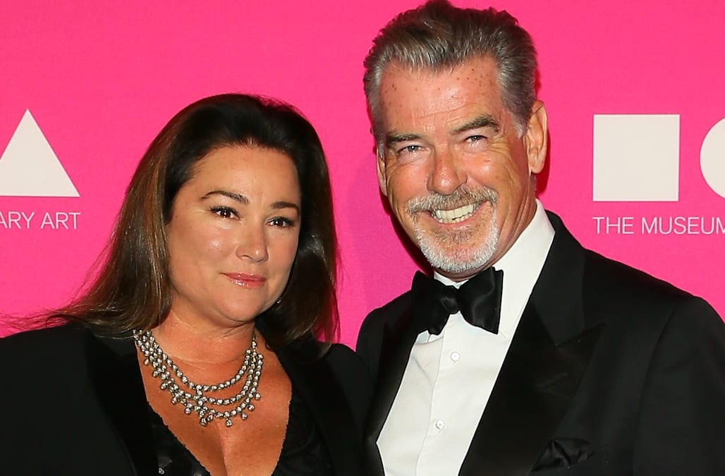 Pierce Brosnan And Wife Keely Shaye Smith Pack On The PDA In Their Bathing Suits