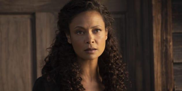 """L'actrice Thandie Newton dans la série """"Westworld""""."""