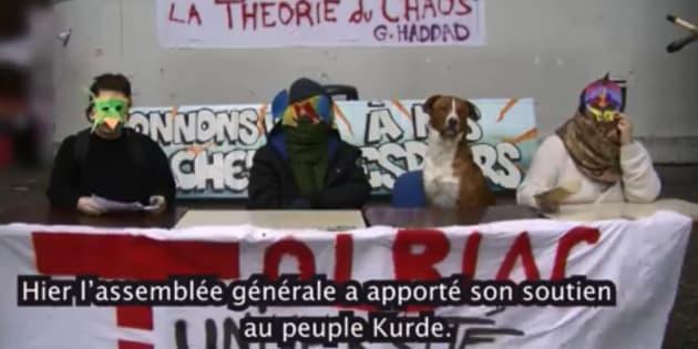 """Le président de la Sorbonne a """"peur que Tolbiac se transforme en une ZAD universitaire""""."""