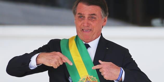 Jair Bolsonaro, durante su toma de posesión como presidente, el pasado 1 de enero, en Brasilia.