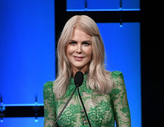 Nicole Kidman wears skintight see-through gown