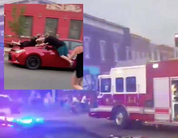 Car runs down protesters of alleged lynching attempt
