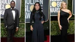 Los vestidos y trajes negros de los Golden Globes, a