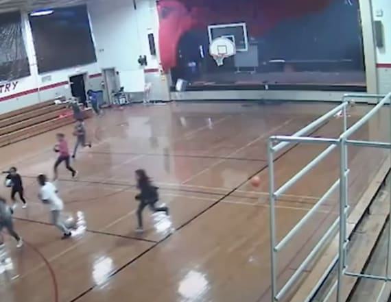 North Carolina school roof caves in during gym class