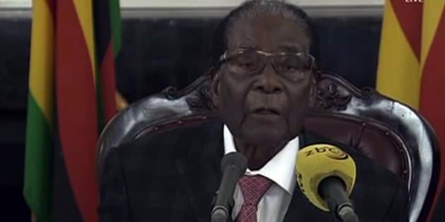 Robert Mugabe lors de son allocution du 19 novembre.