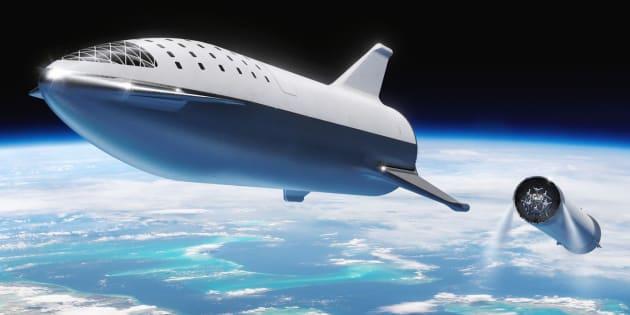 El excéntrico CEO de SpaceX hizo el anuncio de cambio de nombre de su cohete estrella a altas horas de la noche, a través de Twitter.