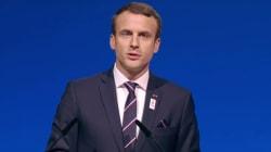 La pique (en anglais) de Macron à Trump pendant la présentation de Paris
