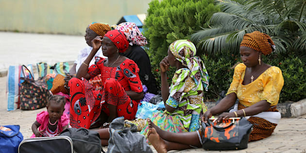 The parents of the rescued Chibok girls wait to be reunited with their children in Abuja, Nigeria May 20, 2017.   REUTERS/Afolabi Sotunde