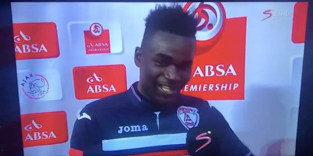 West African soccer star Mohammed Anas thanked both his wife and girlfriend during a post-game interview