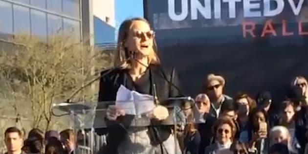 """La manifestation anti """"Muslim ban"""" était organisée deux jours avant la cérémonie des Oscars."""