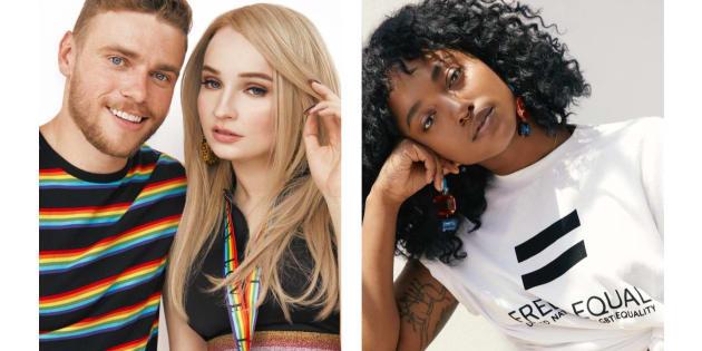 """H&M reverse 10% des revenus générés par la collection à la campagne """"Libre et égaux, pour des droits égaux et un traitement juste des personnes LGBT dans le monde entier"""" des Nations Unis"""