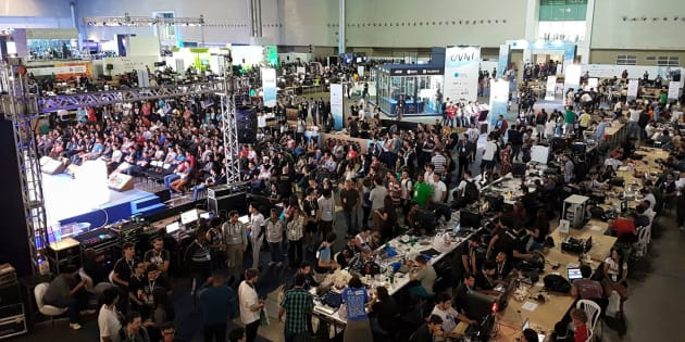 A edição da Campus Party em Belo Horizonte, no fim de 2017, reuniu centenas de universitários.