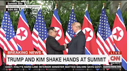Trump And Kim Jong-Un Shake Hands Ahead Of Historic North Korea