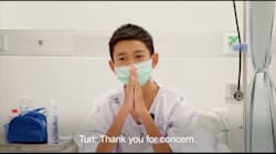 Thai Boys Rescued From Cave Say 'Thank You' In New